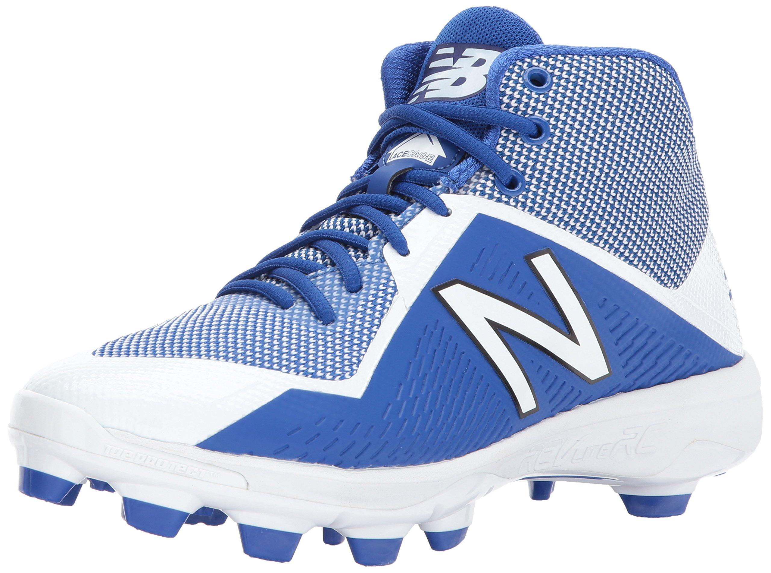 New Balance Men's PM4040v4 Molded Baseball Shoe, Royal/White, 11 D US by New Balance