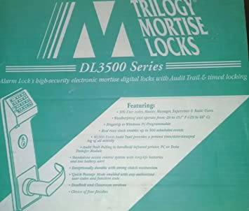 New Alarm Lock Dl3500