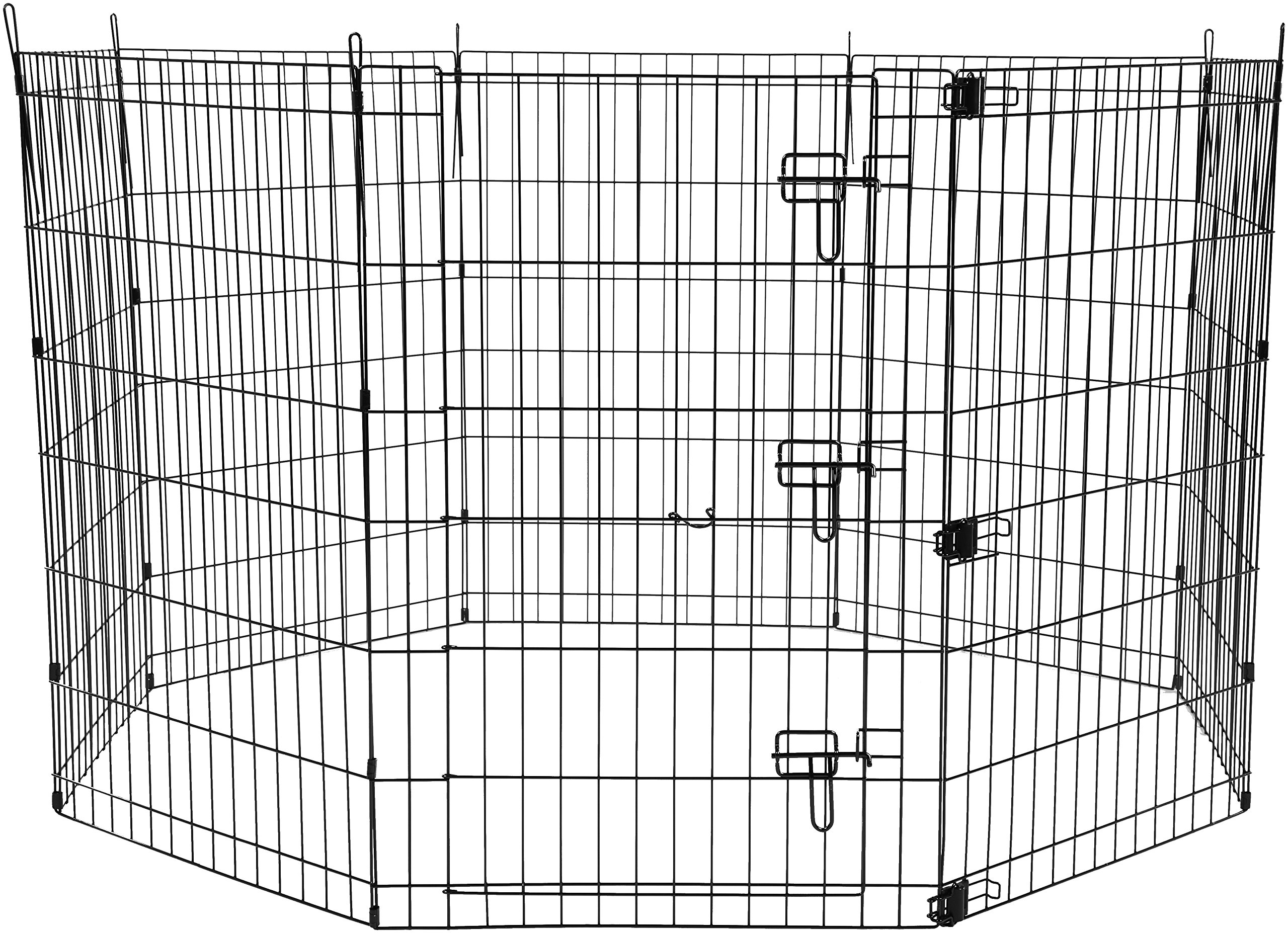 AmazonBasics Foldable Metal Pet Exercise and Playpen with Door, 36'' by AmazonBasics (Image #1)