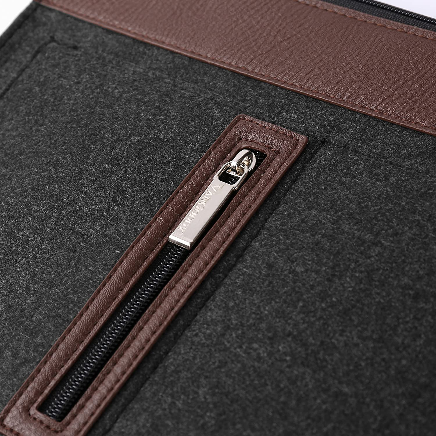 Vangoddy 12 Inch Exo Woolen Felt Slim Fit Compact Tablet Carrying Sleeve Case Cover Black Trim for Apple iPad Pro 12.9 inch with Wireless Mouse and Headphone