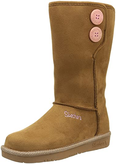 skechers girls black boots
