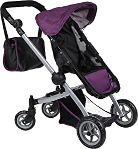 Mommy & Me Deluxe Babyboo Doll Stroller with Swiveling Wheels with Free Carriage Bag (Multi Function View All Photos) - 9651C