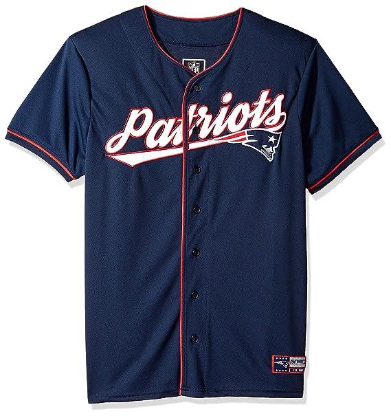 wholesale dealer a5376 b2037 NFL New England Patriots Ultra Game Men's MESH BASEBALL JERSEY, Navy, Large