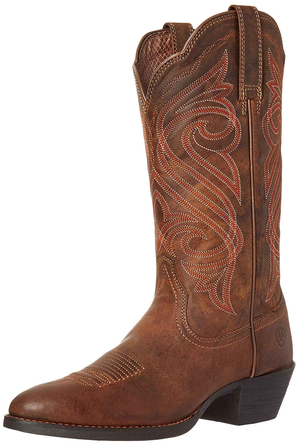 Ariat Women's Round up R Toe Western Cowboy Boot B01BPW7NQK 7 B(M) US|Dark Toffee