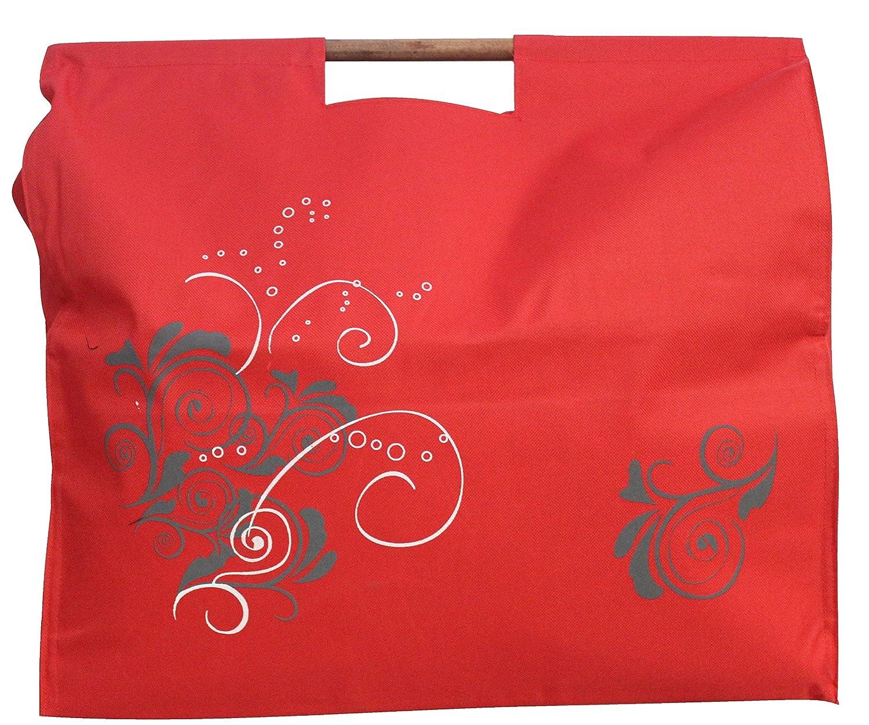 JOKA International Trendy Einkaufstasche mit Holzgriffen Jumbo Format 48x45x15 Farben/Designs zum auswählen (blau uni)