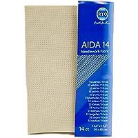 RTO Aida 14 Count Cross Stitch, 100% Katoen, Beige, 39 x 45 cm