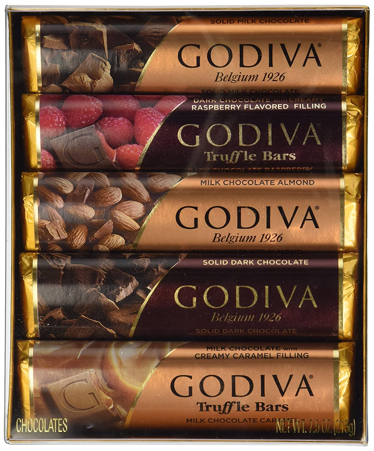 Amazon.com : GODIVA Chocolatier Classic Chocolate Bar Gift Set ...