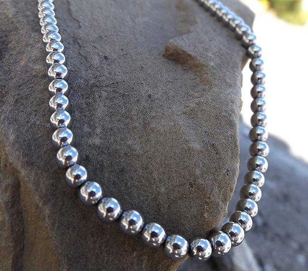 Neerupam collection Naturel H/ématite//Gunmetal gemme pierre 8 mm perles de forme ronde pour la fabrication de bijoux