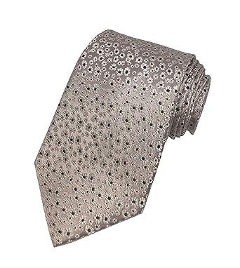e45e3cf572c034 JAEGER Mens 100% Silk Neck Tie Necktie Champagne Pink Blue White Floral  Flowers  Amazon.co.uk  Clothing