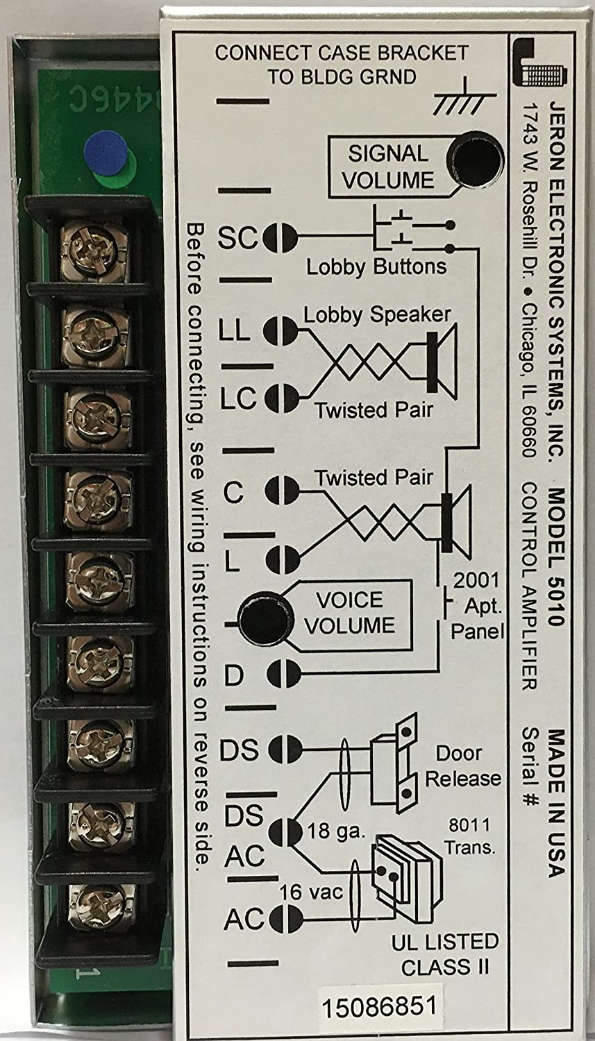 Jeron 5010 Wiring Diagram 25 Images 4 Wire Intercom Sl1500 Amplifier Amazon Com Industrial Scientific At Cita