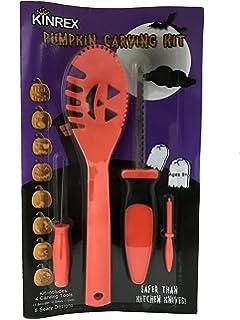 pumpkin carving tools for kids. kinrex halloween pumpkin carving tools - includes 4 8 stencils great for kids
