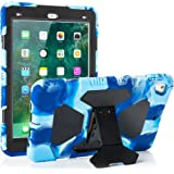 New iPad 9.7 2018 / 2017 Case KIDSPR Lightweight Shockproof Rugged Cover with Stand Protective Full Body Rugged for Kids for