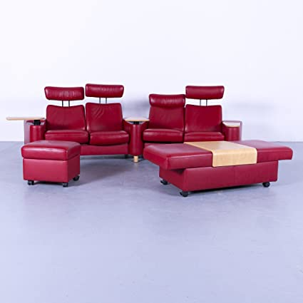 Ekornes Stressless Space Designer Kino Sofa Garnitur Rot Funktion Echtleder Hocker 5167 Sanaa Amazon Co Uk Kitchen Home