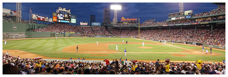 Amazon.com: Fenway Park Green Monster - Baseball Field - 36x12 Matte ...