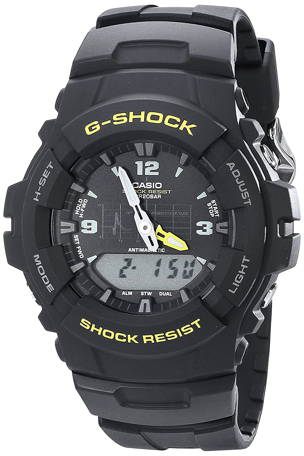 6ad948e78f3f Amazon.com  Casio Men s G-Shock G100-9CM Black Resin Sport Watch  Watches