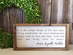 None Brand Laura Ingalls Wilder Quote Laura Ingalls Wilder Sign Painted Wood Sign Wood Sign Framed Wood Sign Inspirational Decor Farmhouse Decor