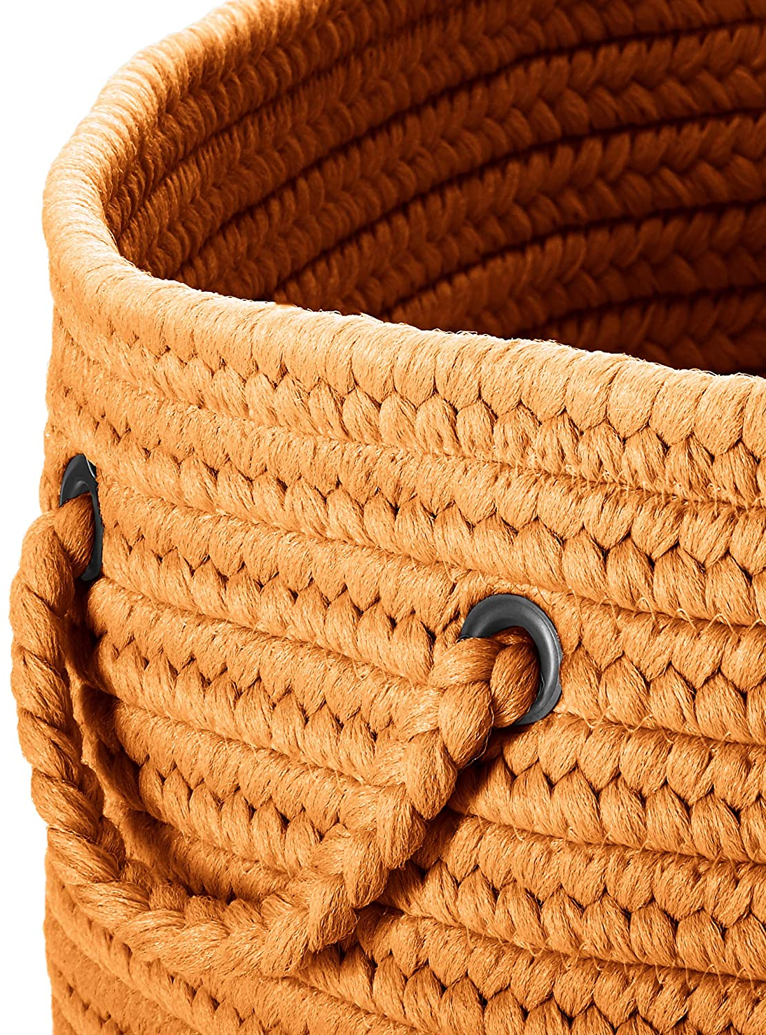 White Colonial Mills BR10 18 by 18 by 12-Inch Boca Raton Solid Storage Basket