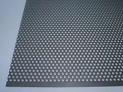 B/&T Metall Plaque perfor/ée en acier inoxydable 1,0/mm d/épaisseur Perforations de 3/mm de diam/ètre en quinconce 3-5