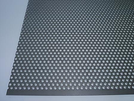 diam/ètre des perforations 3/mm RV 3-5 trous d/écal/és 1,0/mm d/épaisseur B/&T Metall T/ôle perfor/ée en aluminium