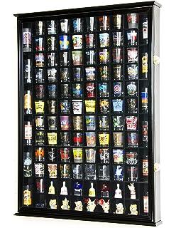 108 Shot Glass Shotglass Shooter Display Case Holder Cabinet Wall Rack 98%  UV Double Door