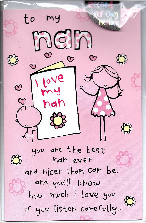 Grabar tu propio mensaje Tarjeta de cumpleaños - a mi abuela ...