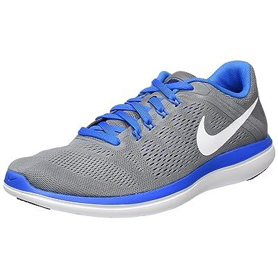 Nike Men's Flex 2016 Rn Cool Grey/White-Loyal Blue Ankle-High Running Shoe - 11.5M | Road Running