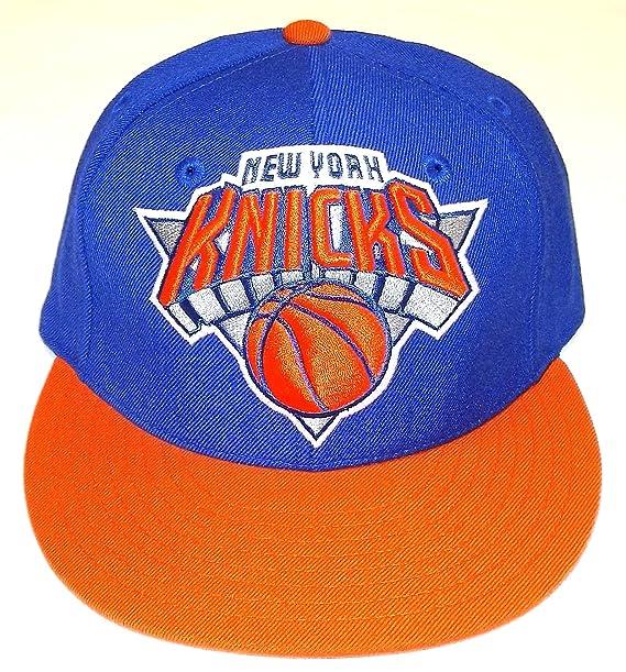 28787b2a3 Amazon.com   NBA New York Knicks Flat Brim Fitted Hat - Tr02K   Sun ...