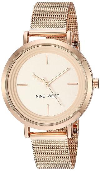 Amazon Com Nine West Women S Nw 2146rgrg Rose Gold Tone Mesh