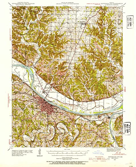 Amazon.com: Missouri Maps | 1939 Jefferson City, MO USGS Historical ...