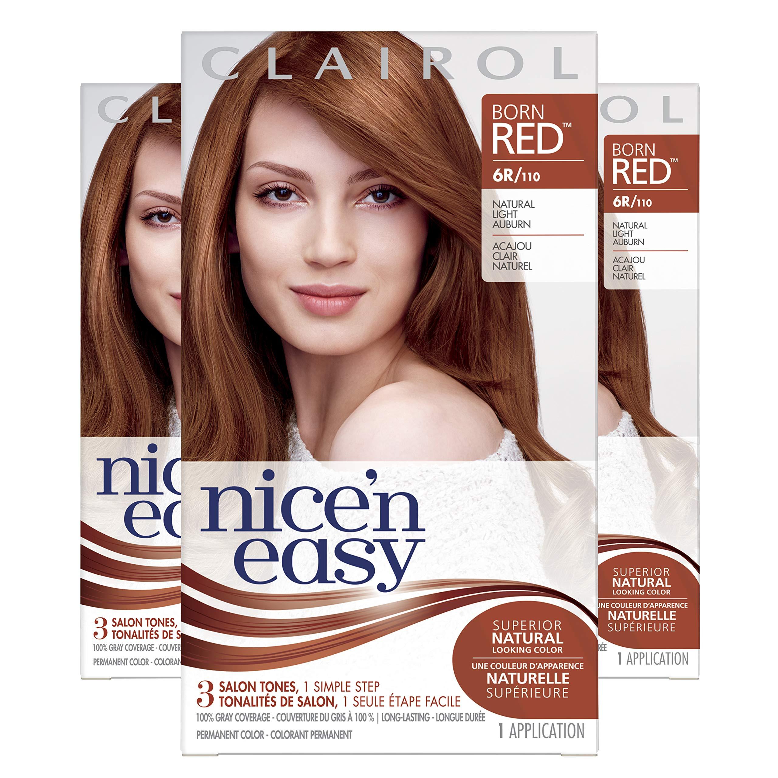 e9317eb34827a Amazon.com  Clairol Nice N Easy Original 6R Natural Light Auburn ...