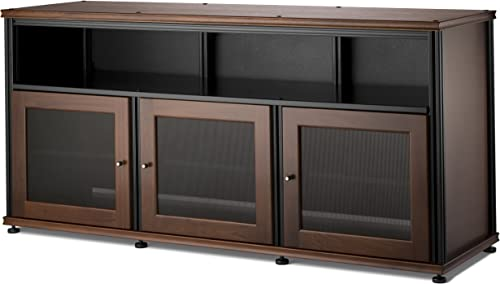 Salamander Designs Synergy Triple Wide A V Cabinet with Doors and a Center Channel Opening