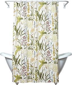 Zenna Home Huntington Fabric Shower Curtain, Cream