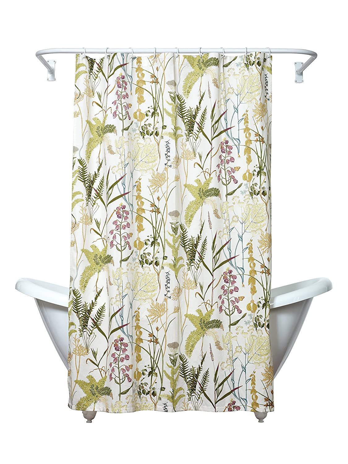 Amazon Zenna Home Huntington Fabric Shower Curtain Cream Kitchen