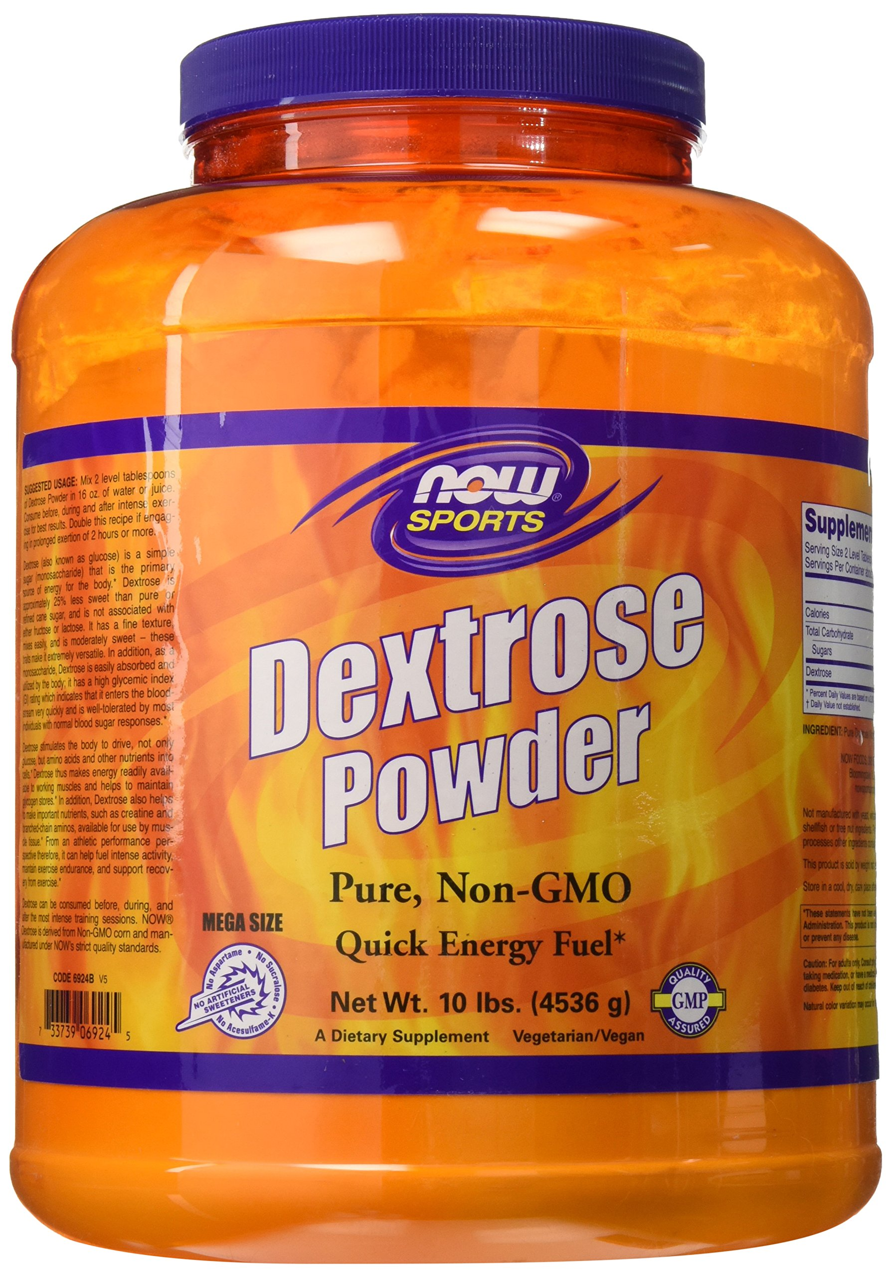 NOW Sports Dextrose Powder, 10-Pound