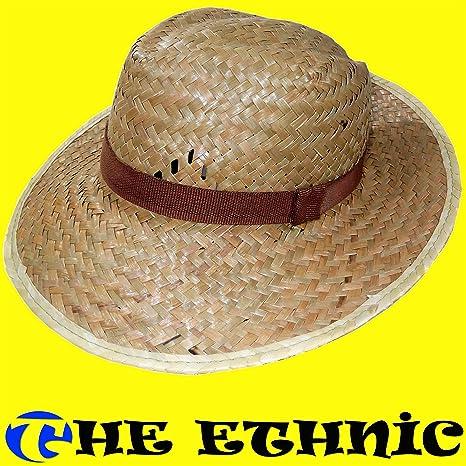 Cappello uomo donna etnico di paglia contadino alpino retrò vintage ... d0871a40cc50