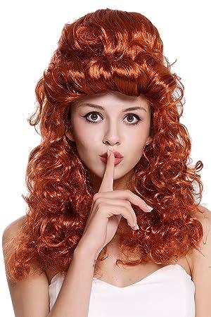 WIG ME UP ® - 90904-ZA131 Peluca Mujer Carnaval Halloween Barroco Renacimiento Colmena moño