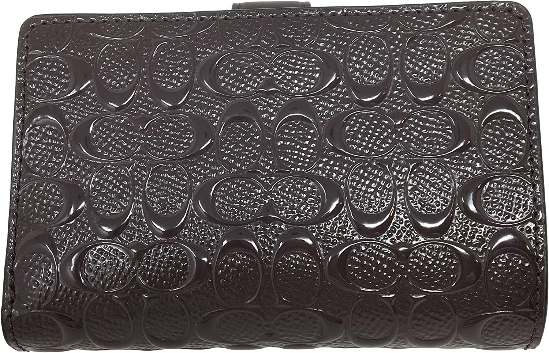 Coach Patent Leather Medium Corner Zip Wallet Oxblood F25937