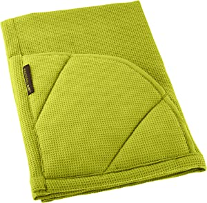Rachael Ray Multifunctional 2-in-1 Moppine, Ultra Absorbent Kitchen Towel & Heat Resistant Pot Holder, Green