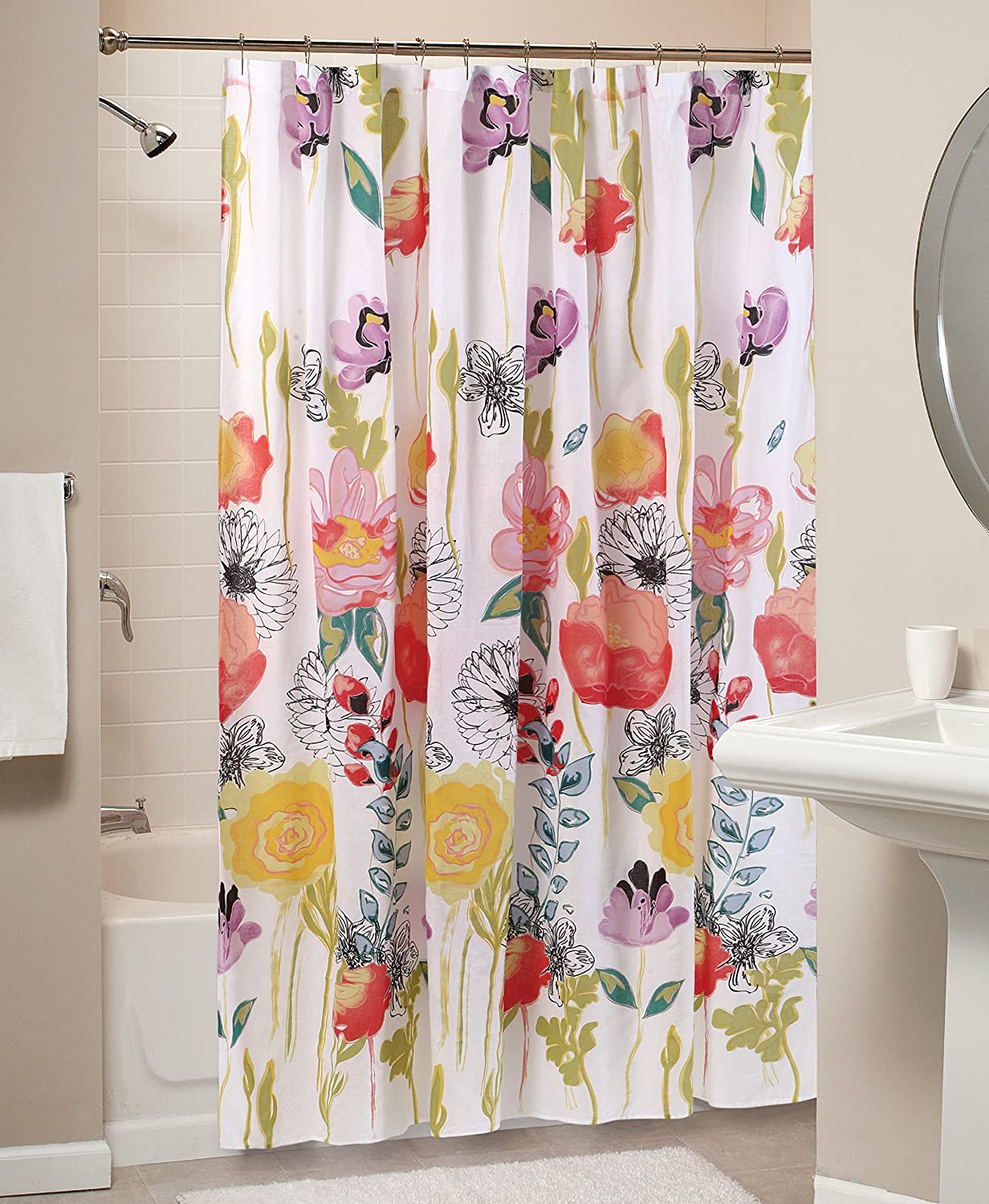 Greenland Home Watercolor Dream Shower Curtain 72 X 72 Inch White Home Kitchen