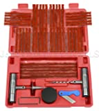 J&R Quality Tools Tire Repair Kit Set to Plug Flat and Punctured Tires | 57-Piece Set