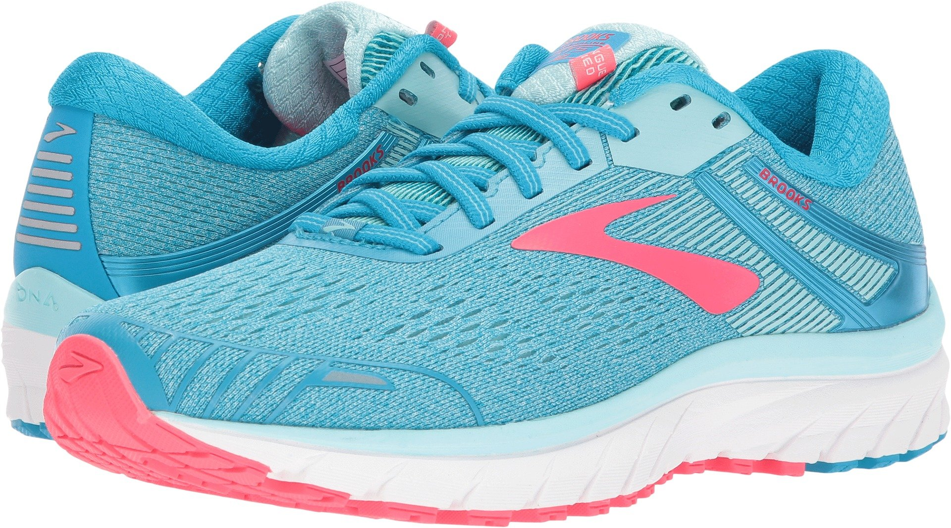 Brooks Women's Adrenaline GTS 18 Blue/Mint/Pink 5 B US B (M)