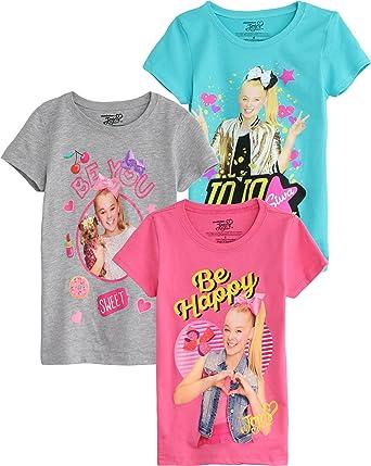 2aa898cf7 Amazon.com  Nickelodeon JoJo Siwa Short-Sleeve T-Shirt 3-Pack  Clothing