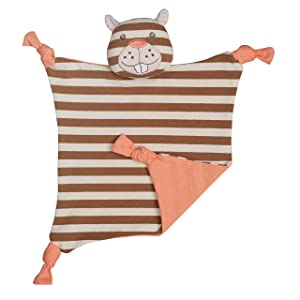 Apple Park Organic Farm Buddies - Buster Beaver Blankie, Blanket Baby Toy for Newborns, Infants, Toddlers - Hypoallergenic, 100% Organic Cotton