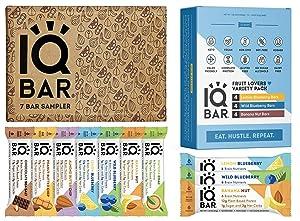 IQBAR Keto Protein Bars Bundle (19 Bars) - Gluten-free, Dairy-free Low Carb Protein Bars and Vegan Snacks - 12 Fruit Lovers Variety Protein Bars + 7 Bar Sampler Keto Snacks