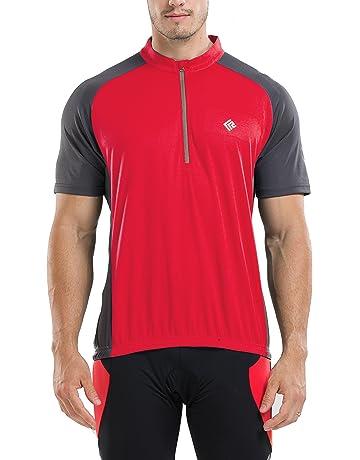 f1a30e4976d KORAMAN Men s Reflective Short Sleeve Cycling Jersey Quick-Dry Breathable Biking  Shirt