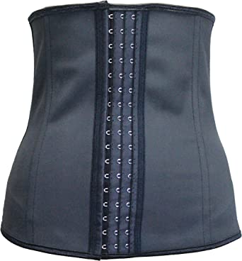 Sport 100/% Latex Rubber Waist Trainer Cincher Corset Body Shaper vest Shapewear