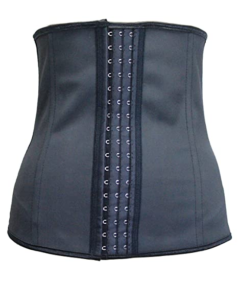 bd990dc1c60 Women Latex Rubber Waist Trainer Cincher Underbust Corset Body Shaper  Shapewear Black (7X-Large