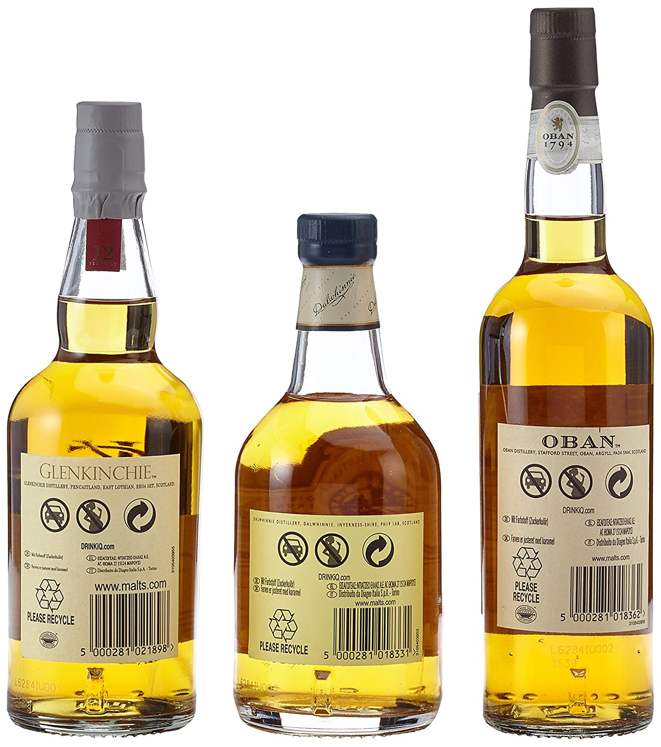 Classic Malts Collection Gentle Single Malt Whisky Pack (3 x 0.2 l ...