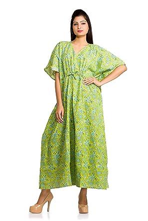 Image Unavailable. Image not available for. Color  Women Robe Long Kaftan  Caftan Indian Dress Vintage Boho Maxi ... b359ec6de