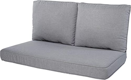 Quality Outdoor Living 29-MG02LV Loveseat Cushion, 46 x 26 3PC, Machine Gray
